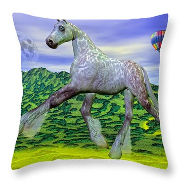 Looking For Dorothy Throw Pillow by Betsy Knapp