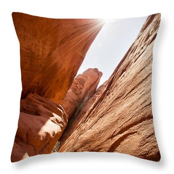 Looking For Sand Dune Arch Throw Pillow