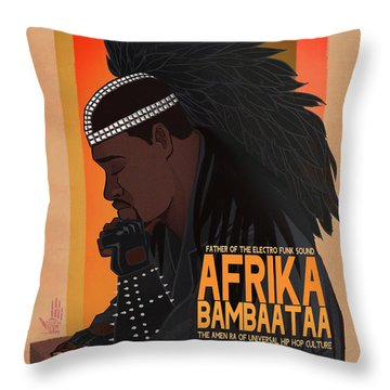 Looking For The Perfect Beat Throw Pillow by Nelson Dedos Garcia