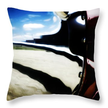 Throw Pillow featuring the photograph Looking Forward by Paul Job