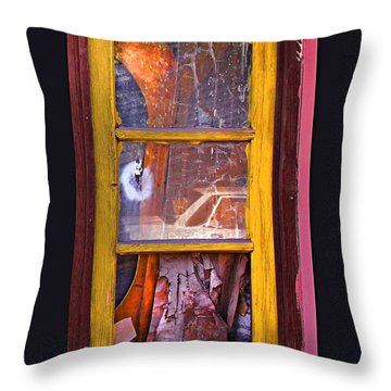 Looking Glass Throw Pillow by Kandy Hurley