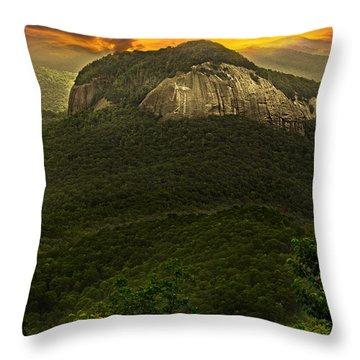 Looking Glass Rock North Carolina  Throw Pillow