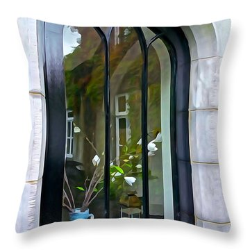 Throw Pillow featuring the photograph Looking In by Charlie and Norma Brock