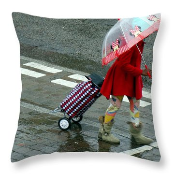 Looking On The Bright Side Throw Pillow by Pete Edmunds