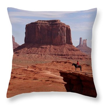 Looking Out At John Ford Point Throw Pillow