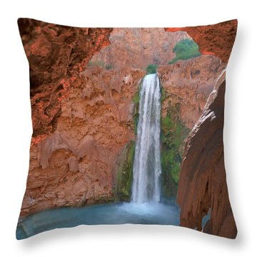 Looking Out From The Cave Throw Pillow by Alan Socolik