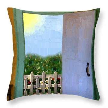 Looking Out My Back Door Throw Pillow by RC DeWinter
