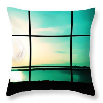 Looking Out My Window Throw Pillow