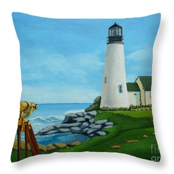 Looking Out To Sea Throw Pillow by Anthony Dunphy