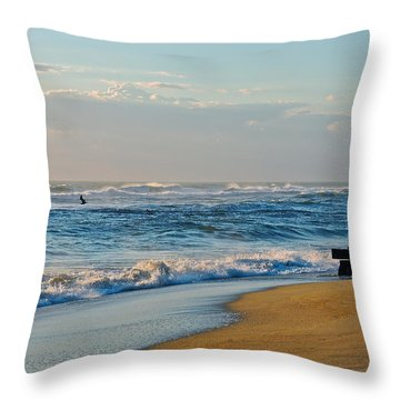 Looking Out To Sea Throw Pillow by Eve Spring