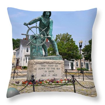 Looking Out To Sea II Throw Pillow
