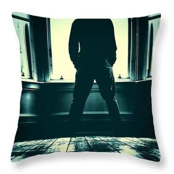 Looking Out Window Throw Pillow by Craig B