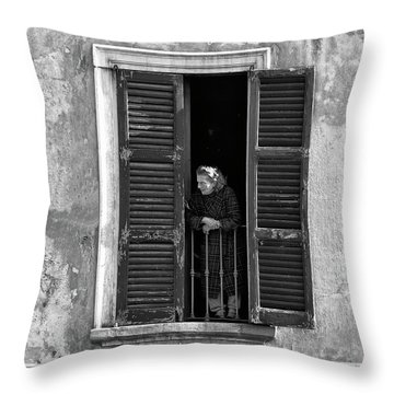 Looking Outside Throw Pillow