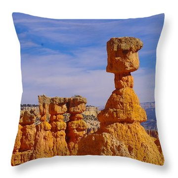 Looking Over Sunset Point  Throw Pillow by Jeff Swan