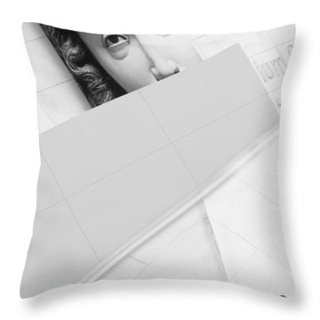 Looking Throw Pillow by Richard Piper