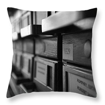Throw Pillow featuring the photograph Looking Something Up by John S