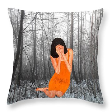 Looking Through My Fingers 3 Throw Pillow by Patrick J Murphy