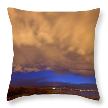Looking Through The Storm Throw Pillow by James BO  Insogna