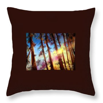 Looking Through The Trees Throw Pillow