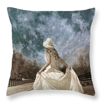 Looking To The Light Throw Pillow by Betsy Knapp