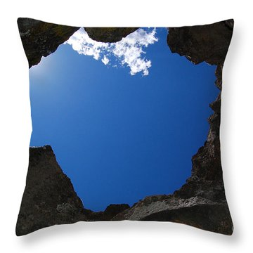 Throw Pillow featuring the photograph Looking Up 2 by Debra Thompson
