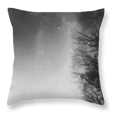 Looking Up At The Sky While Driving Throw Pillow by J Riley Johnson
