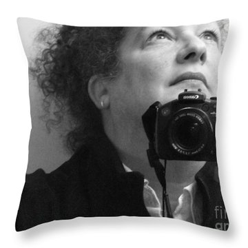 Looking Up - B/w Throw Pillow