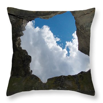 Throw Pillow featuring the photograph Looking Up by Debra Thompson