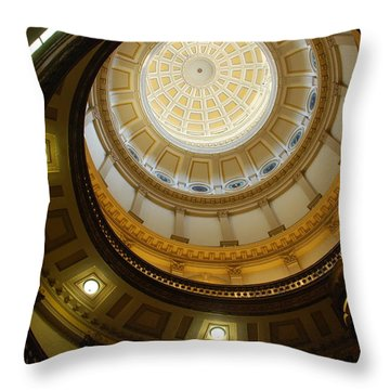 Looking Up The Capitol Dome - Denver Throw Pillow