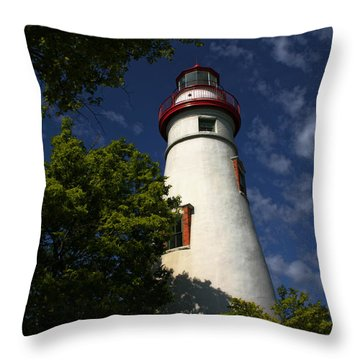 Looking Up To Marblehead Light Throw Pillow