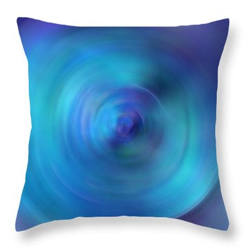 Looking Within - Energy Abstract Art By Sharon Cummings Throw Pillow by Sharon Cummings