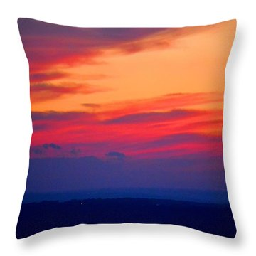 Lookout Mountain Sunset Throw Pillow by Tara Potts