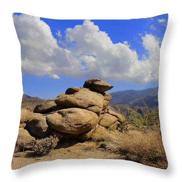 Lookout Rock Throw Pillow by Michael Pickett