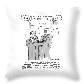 Looks & Sounds Like News! Throw Pillow by Michael Crawford