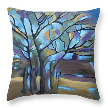 Looks Like Mondrian's Tree Throw Pillow
