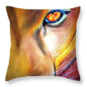Looks That Kill Throw Pillow by Renee Michelle Wenker