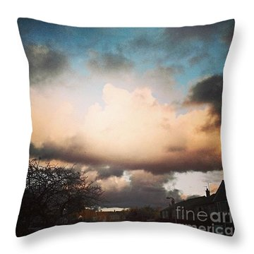 #lookslikerain #sky #skyscape Throw Pillow by Isabella F Abbie Shores FRSA