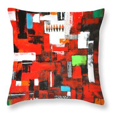 Looms Of Manipur Throw Pillow by Kiruba Sekaran