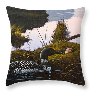 Loon Lake Throw Pillow