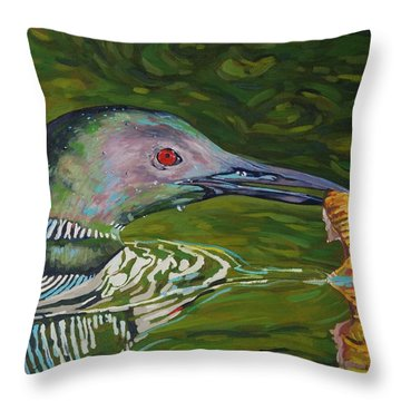 Loon Lunch Throw Pillow