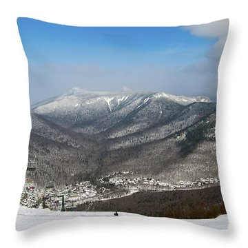Loon Mountain Ski Resort White Mountains Lincoln Nh Throw Pillow