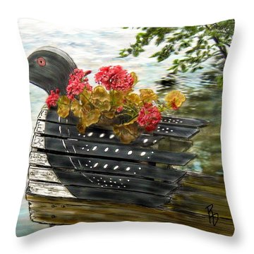 Loony Planter Throw Pillow