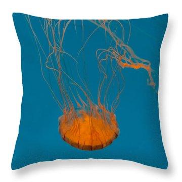 Loop To Loop Orange Nettle Throw Pillow