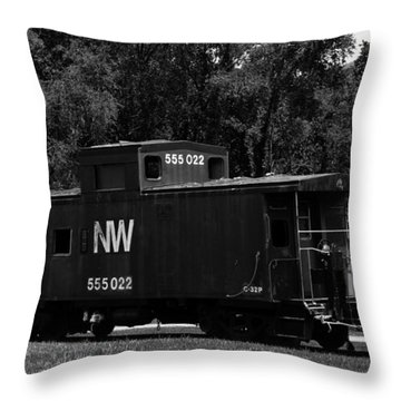 Throw Pillow featuring the photograph Loose Caboose by Cathy Shiflett