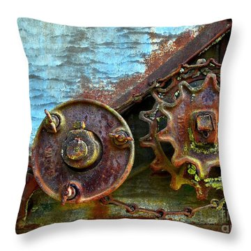 Loose Gears Throw Pillow by Newel Hunter