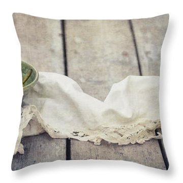 Loosely Draped Throw Pillow by Priska Wettstein