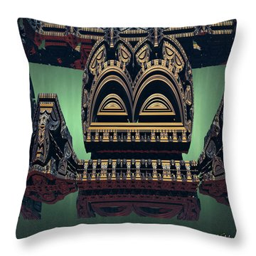 Throw Pillow featuring the digital art Lord And Master by Melissa Messick