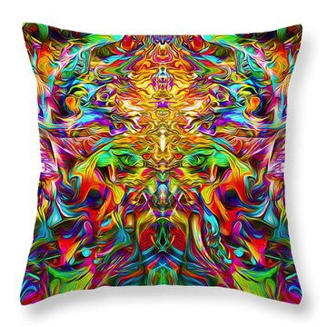 Throw Pillow featuring the painting Lord Ganesha by Jalai Lama
