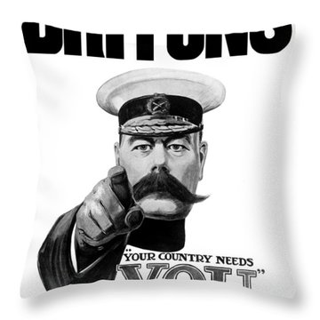 Lord Kitchener - Britons Your Country Needs You Throw Pillow