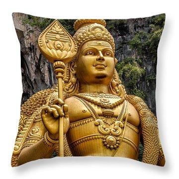 Lord Murugan Throw Pillow by Adrian Evans